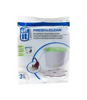 Hagen Catit Fresh & Clear Replacement Foam/Carbon Filter