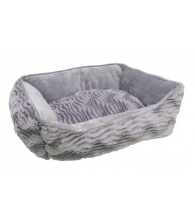 Hagen Dogit Rectangular Reversible Cuddle Bed Wild Animal Grey S
