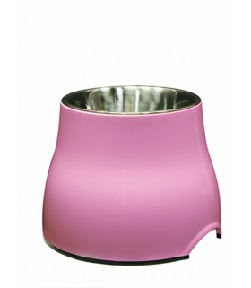Hagen Dogit Elevated Dog Dish with Stainless Steel Insert Pink