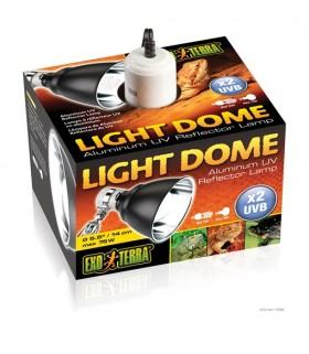 """Exo Terra Light Dome / Aluminum UV Reflector Lamp 14cm 5.5"""""""