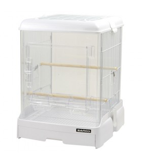 Wild Sanko Easy Home Clear Bird Cage White M