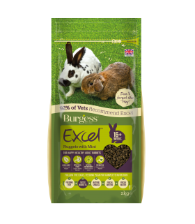 Burgess Excel Rabbit Adult with Mint 2kg