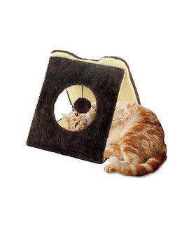 Marukan Cat Scratcher Triangle Tunnel