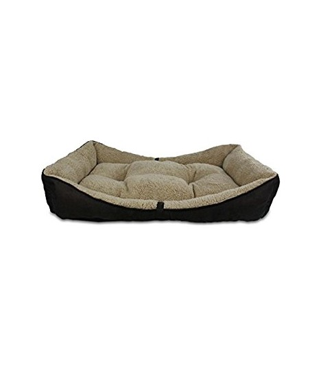 AFP Lambswool Bolster Bed Grey