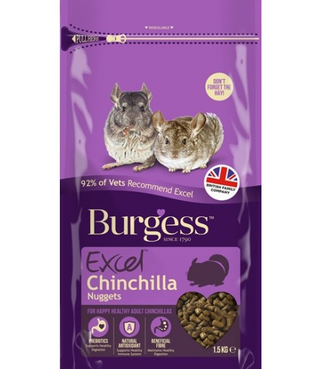Burgess Excel Chinchilla with Mint 1.5kg
