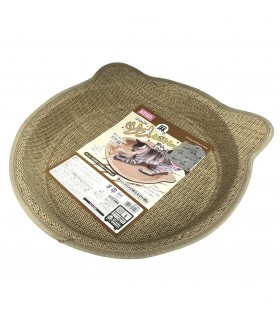 Marukan Cat Shape Scratching Tray Hemp