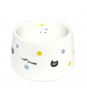 Marukan Easy Eat Ceramic Cat Dish