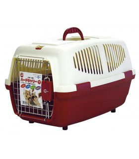 Marukan Pet Carrier Red Cream