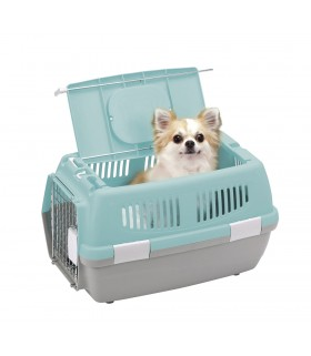 Marukan 2 Door Carrier for Dog & Cat Blue