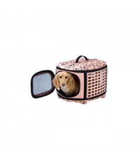 Marukan Collapsible Crate for Dogs & Cats Pink