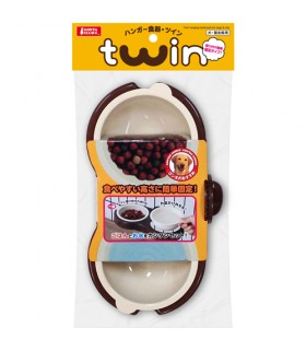 Marukan Twin Hanging Bowl for Dogs