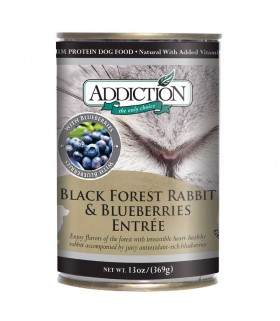 Addiction Dog Blackforest Rabbit & Blueberries Entree (Grain Free)