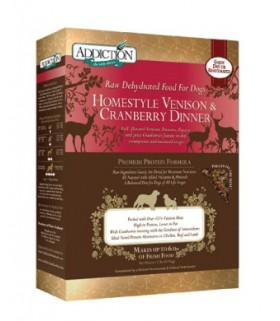 Addiction Dog Homestyle Venison & Cranberry Dinner