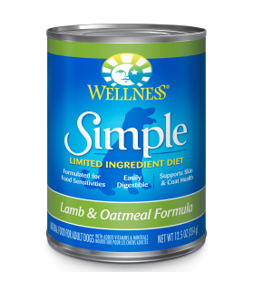 Wellness Simple Solutions Grain Free Lamb & Oatmeal 12.5oz