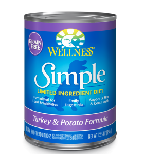 Wellness Simple Solutions Grain Free Turkey & Potato 12.5oz