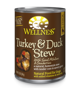Wellness Homestyle Grain Free Turkey and Duck Stew with Cranberries & Sweet Potatoes 12.5oz