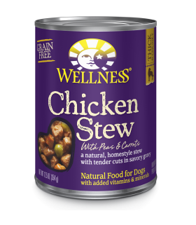 Wellness Homestyle Grain Free Chicken Stew with Peas & Carrots 12.5oz