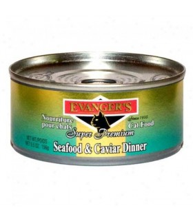 Evangers Seafood and Caviar Cat Canned Food 156g