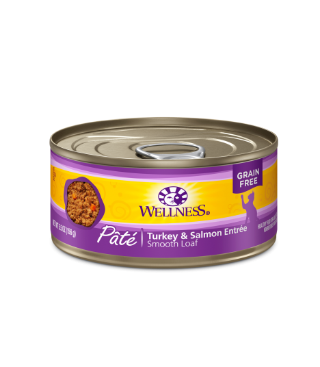 Wellness Complete Health Grain Free Pate - Turkey & Salmon for Cat 5.5oz