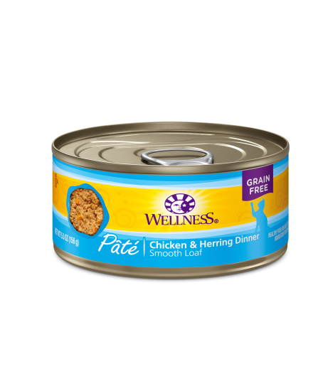 Wellness Complete Health Grain Free Pate - Chicken & Herring for Cat 5.5oz