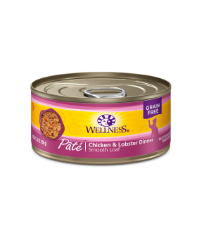 Wellness Complete Health Grain Free Pate - Chicken & Lobster for Cat 5.5oz