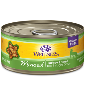 Wellness Minced Grain Free Turkey Entree 5.5oz