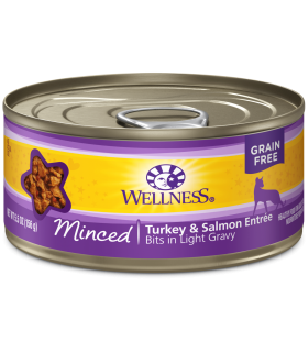 Wellness Minced Grain Free Turkey & Salmon Entree 5.5oz