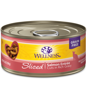 Wellness Sliced Grain Free Salmon Entree 5.5oz