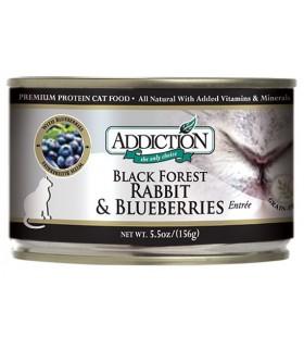 Addiction Cat BlackForest Rabbit & Blueberries Entrée-Grain Free
