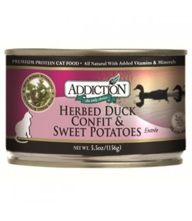 Addiction Cat Herbed Duck Confit &Sweet Potato Entrée-Grain Free