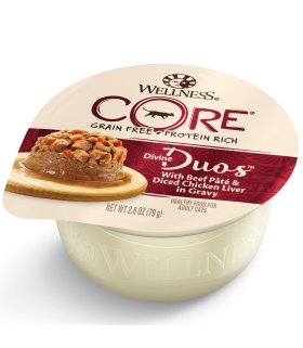 Wellness CORE Divine Duos Beef & Chicken Liver for Cat 2.8oz