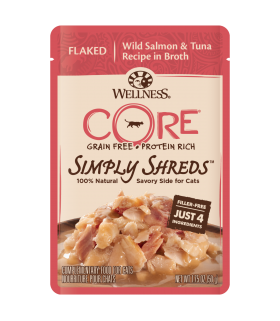 Wellness CORE Simply Flaked Wild Salmon & Tuna in Broth 1.75oz