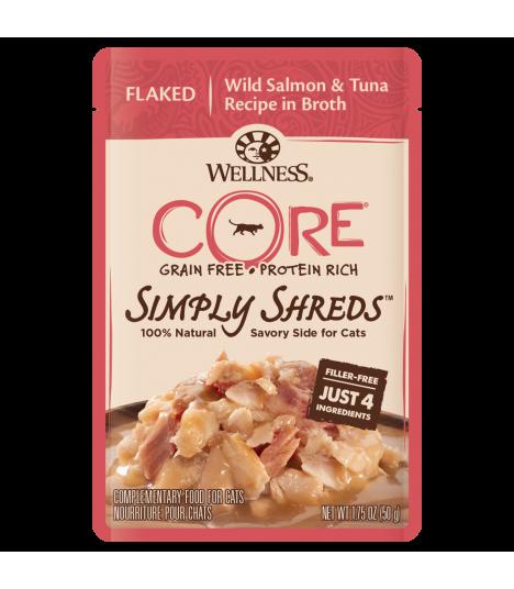 Wellness CORE Simply Flaked Wild Salmon & Tuna in Broth 1.75oz