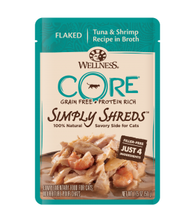 Wellness CORE Simply Flaked Tuna & Shrimp in Broth 1.75oz