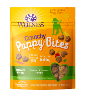 Wellness Puppy Bites Crunchy Chicken & Carrots 6oz