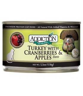 Addiction Cat Turkey w Cranberries & Apples Entrée - Grain Free