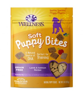 Wellness Puppy Bites Soft Lamb & Salmon 3oz